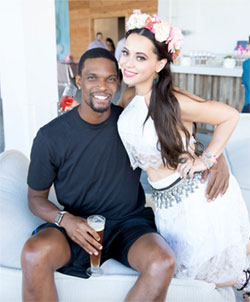 Chris and Adrienne Bosh.
