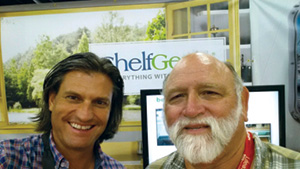 Rodrigo Burgos with Thomas Hudson (Shelfgenie customer from Texas).