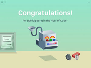 Swift Playgrounds for iPad includes a new Hour of Code challenge where students can use Swift to create their own digital robot.