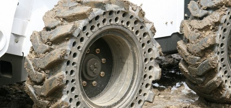What Are Solid Cushion Skid Steer Tires?